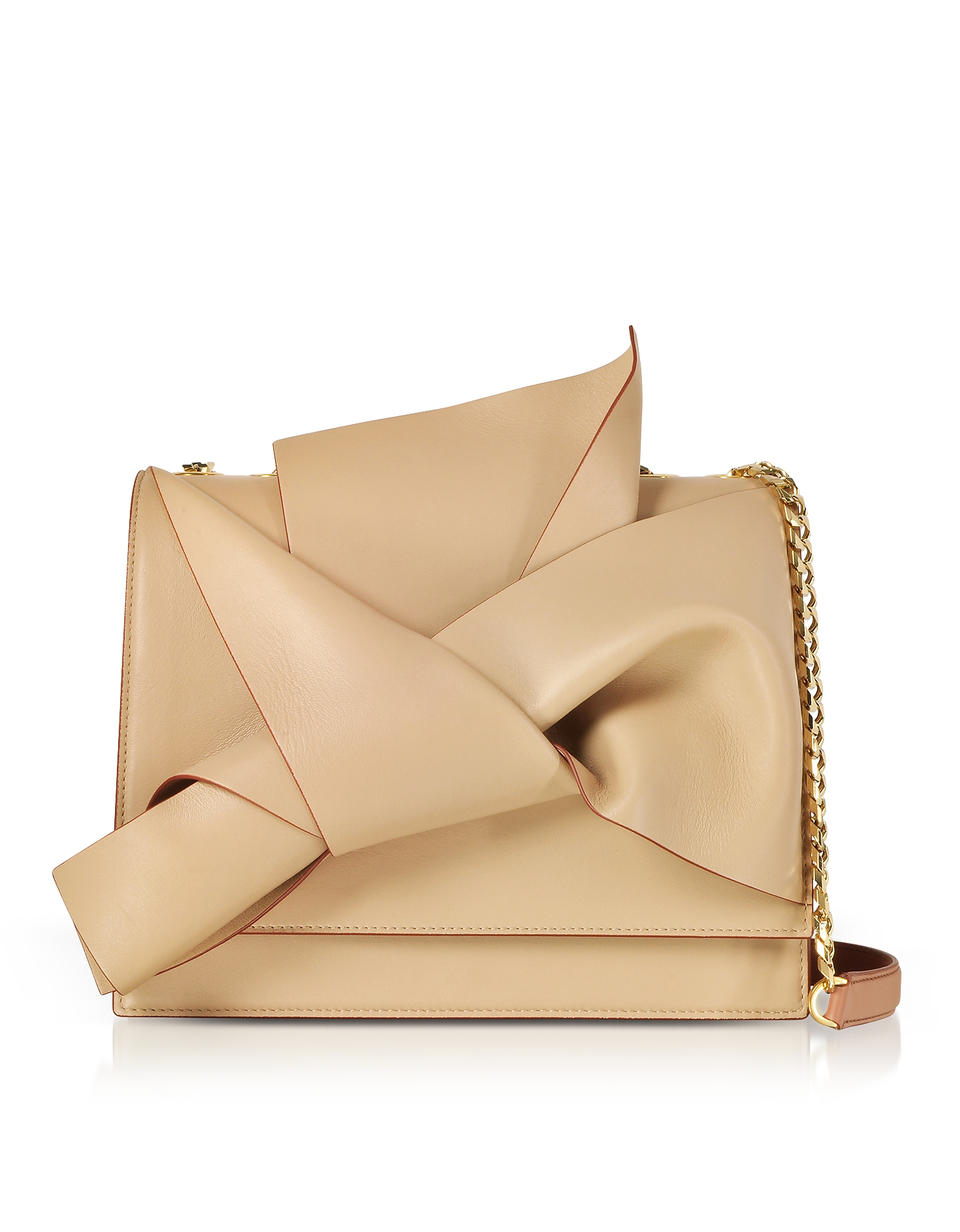Large Bow Bag in Nappa Nude/Bois de Rose