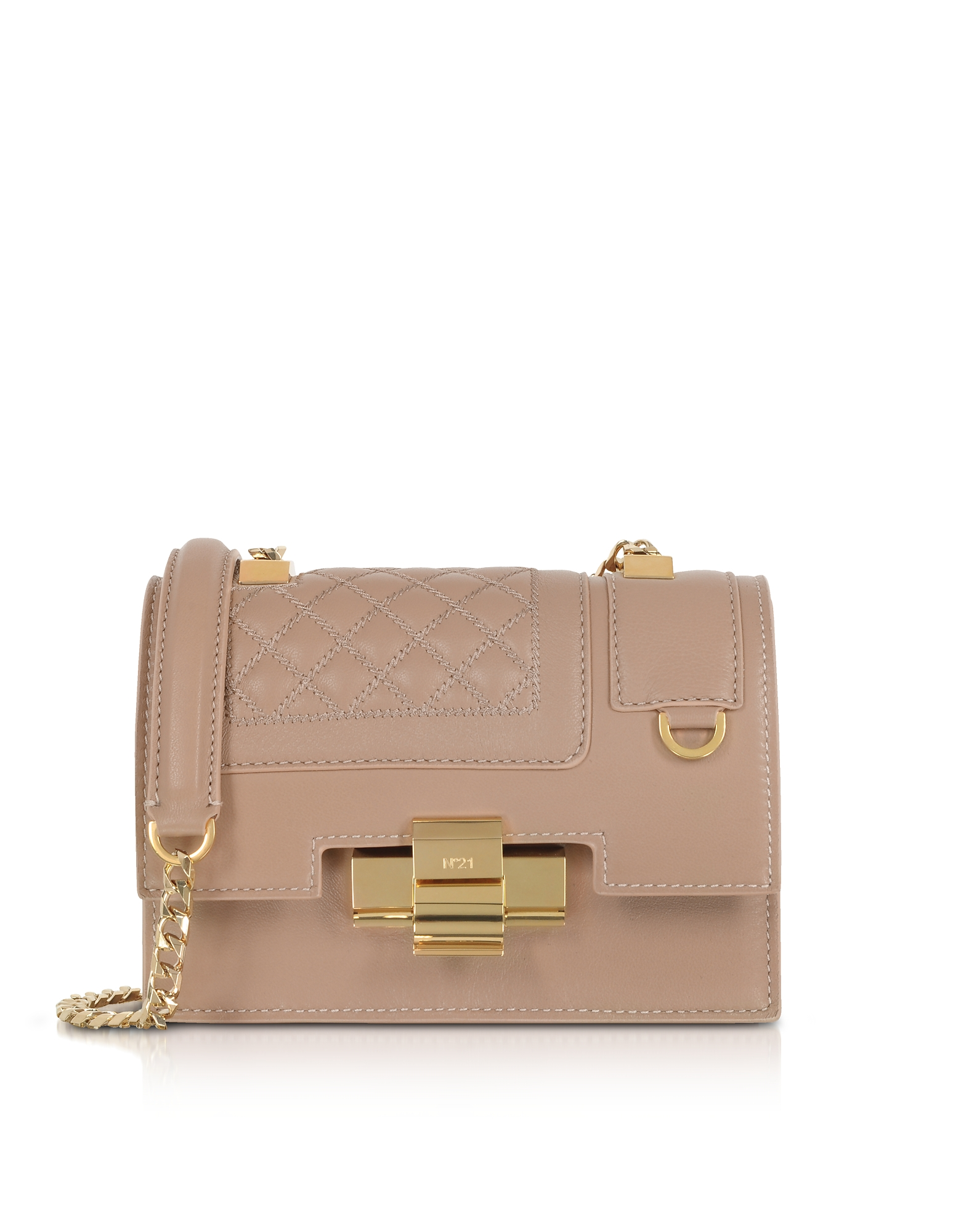 N°21 Handbags, Powder Pink Quilted Leather Mini Alice Shoulder Bag