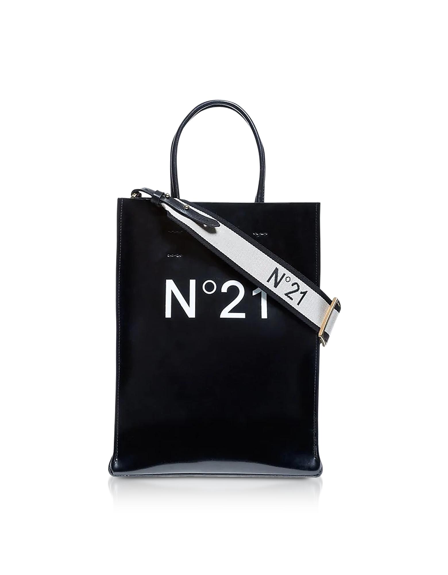 Black Signature Small Tote Bag
