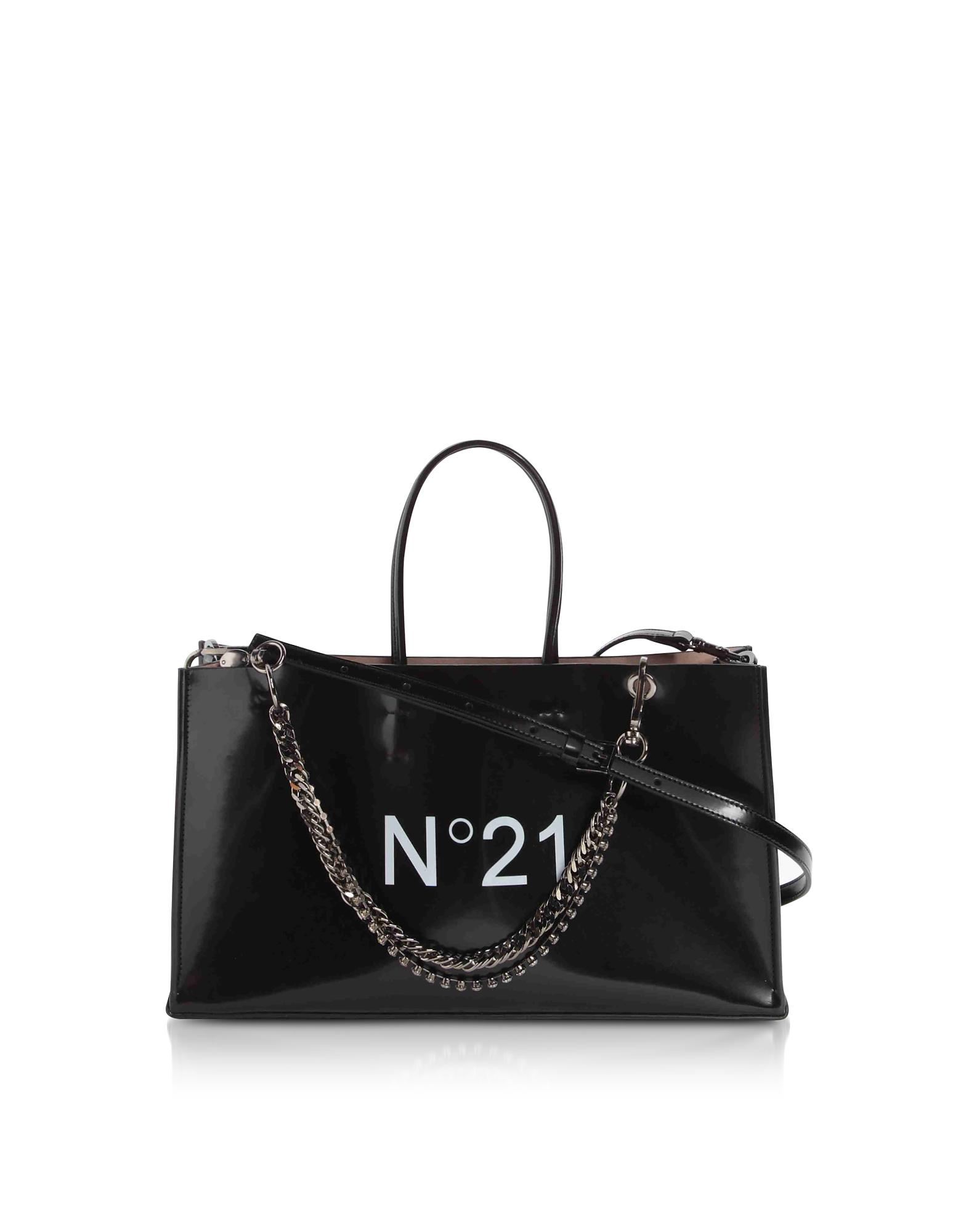 Black Signature E/W Tote Bag