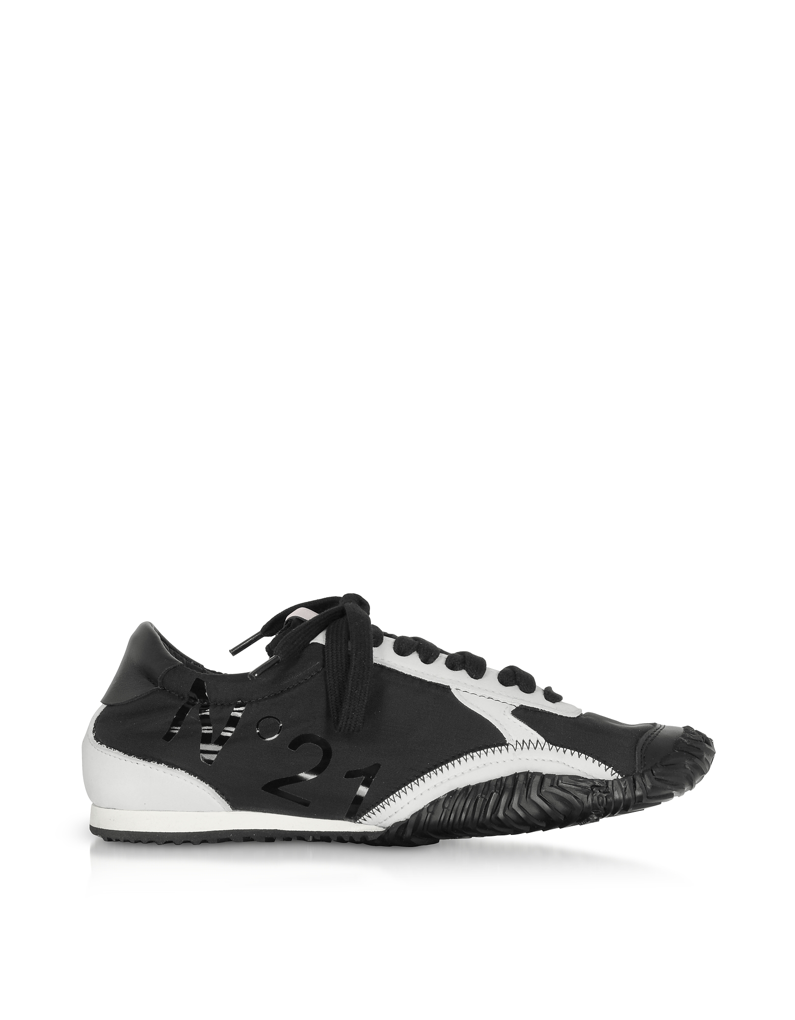 N°21 Designer Shoes, Strike Calf Leather & Synthetic Women's Sneakers