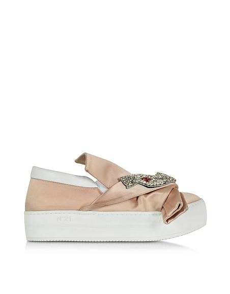 Foto N°21 Sneaker Donna in Satin Rosa Cipria Scarpe