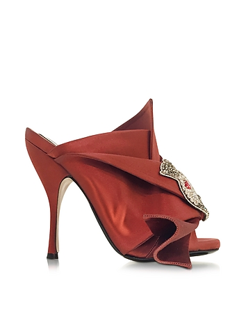 Satin Wrap High Heel Sandal