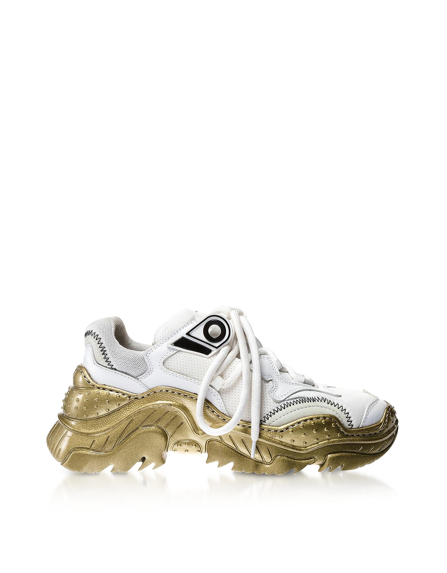 Billy White Nylon Women's Sneakers