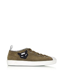 Military Velour Men's Sneaker w/Rubber Sole - N°21