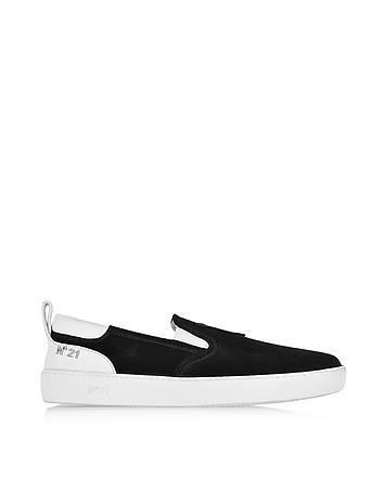 Luca Black Suede Slip On Men's Sneaker