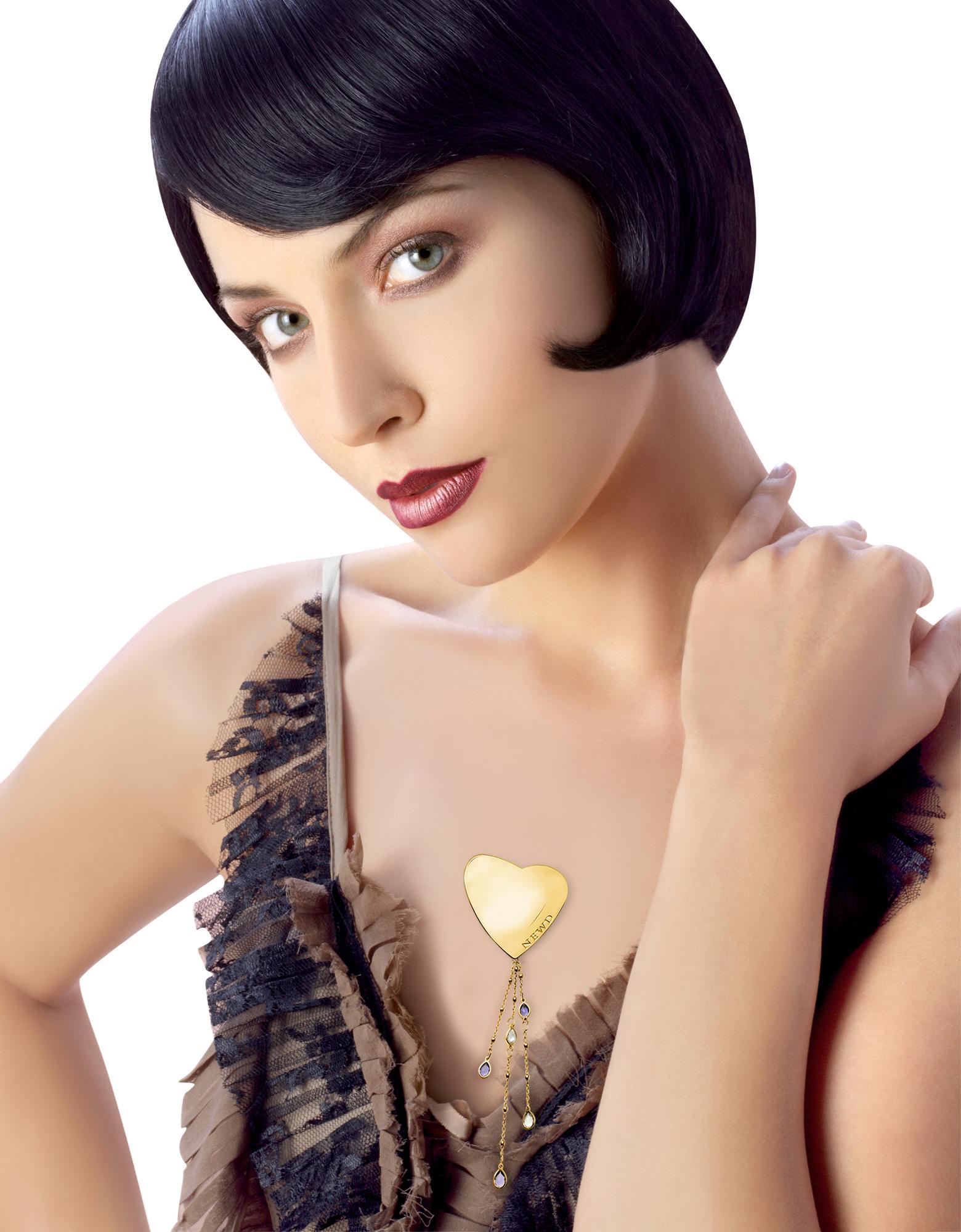 Newd  Marylin - Logo Heart w/ Swarovski Crystal Drops