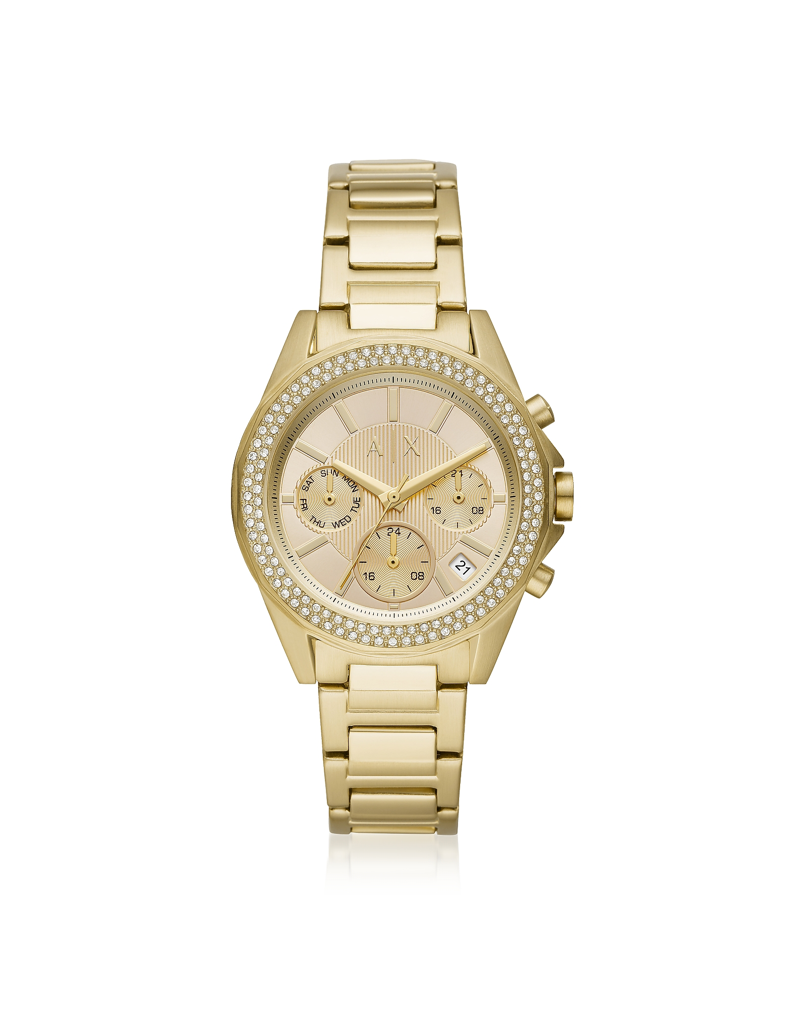 Lady Drexler Gold Tone Chronograph Watch