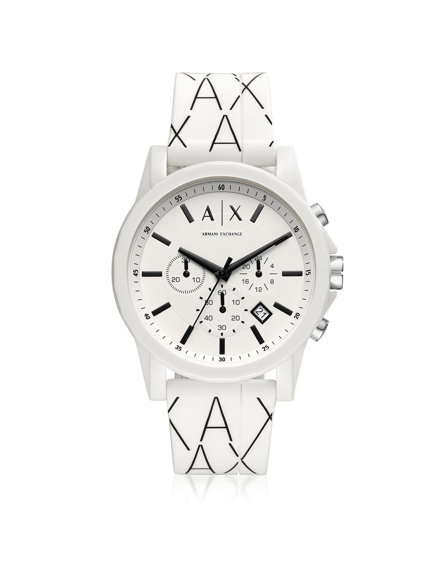 Outerbanks White Logo Silicone Men's Chronograph Watch