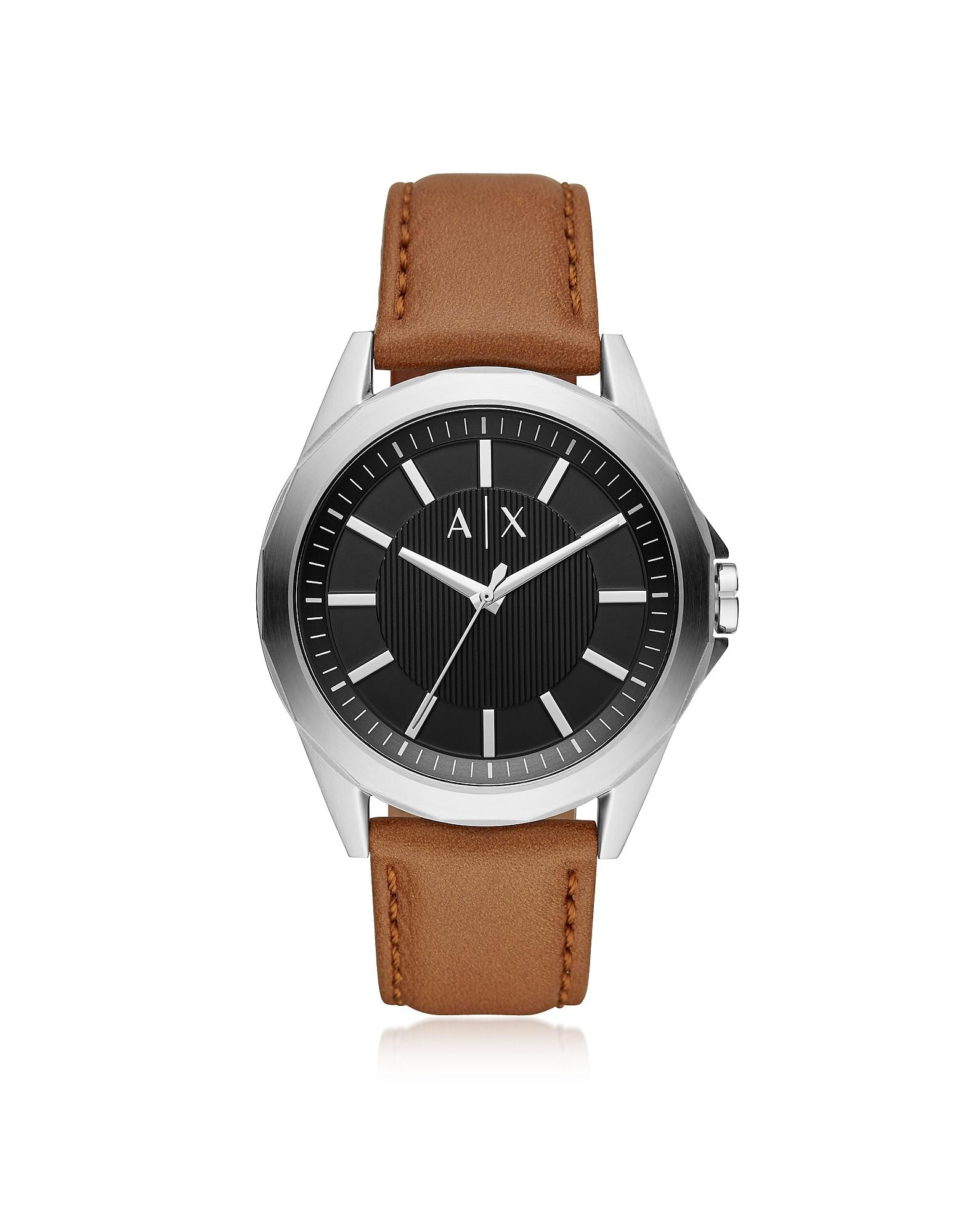 Drexler Three-Hand Luggage Leather Watch