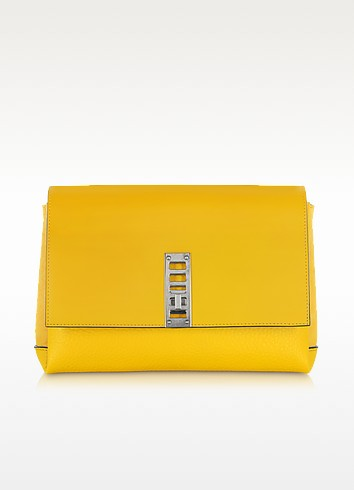 PS Elliot Leather and Suede Clutch - Proenza Schouler