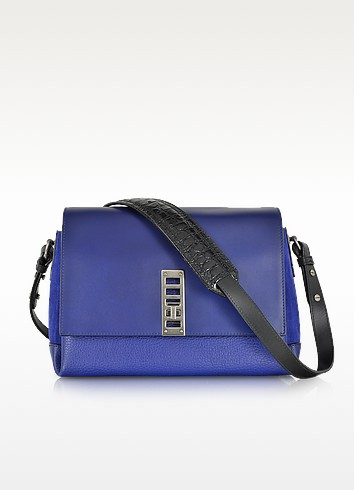 PS Elliot Leather and Suede Crossbody Bag - Proenza Schouler