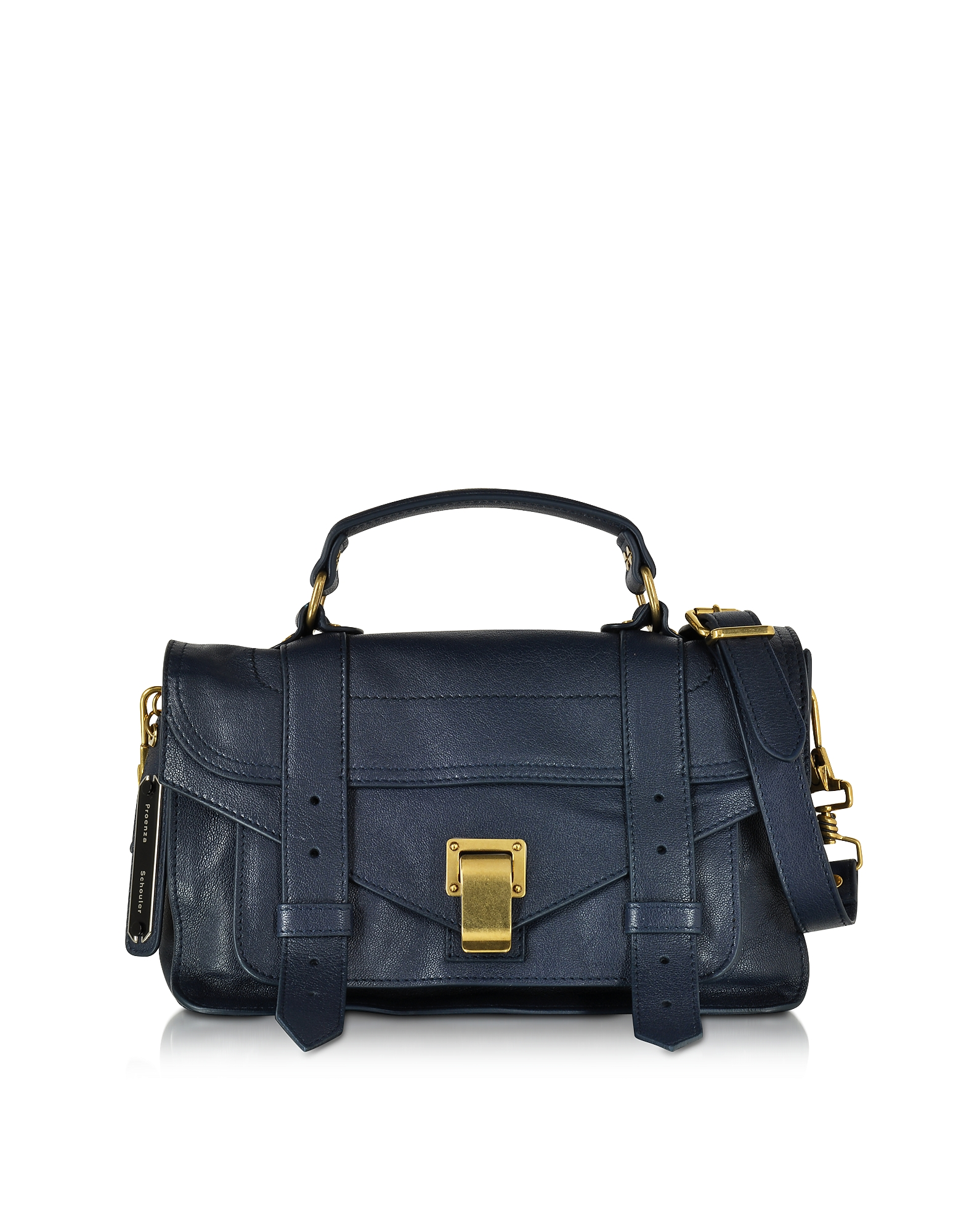 Proenza Schouler Handbags, PS1 Tiny Lux Midnight Leather Satchel Bag