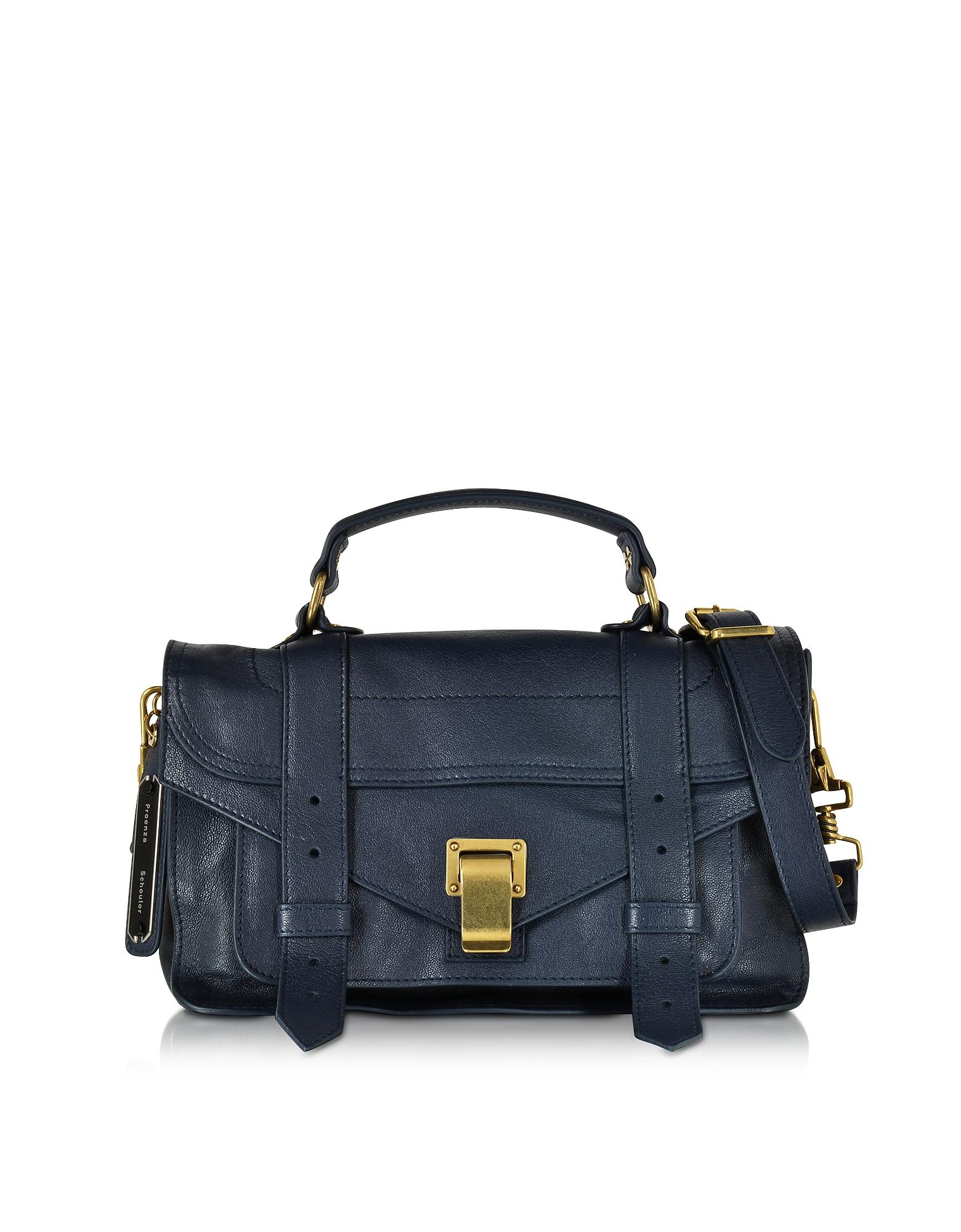 Proenza Schouler Handbags, PS1 Tiny Lux Midnight Leather Satchel Bag