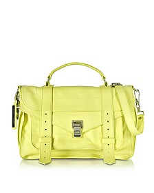 PS1 Medium Pale Citrus Lux Leather Satchel Bag - Proenza Schouler