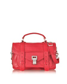 PS1 Tiny Geranium Lux Leather Satchel Bag - Proenza Schouler