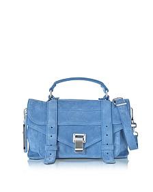 PS1 Tiny Slate Blue Suede Satchel Bag - Proenza Schouler