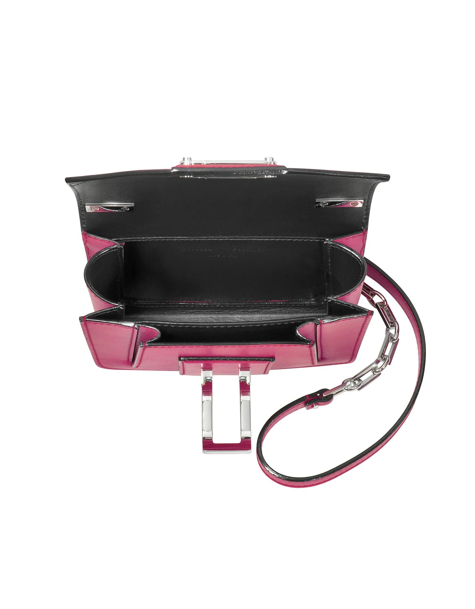 Фото Hava - Пурпурная Кожаная Сумка с Цепочкой Через Плечо. Купить с доставкой
