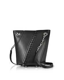 Black Smooth Leather Mini Hex Bucket Bag - Proenza Schouler