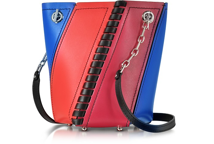 Color Block Smooth Leather Mini Hex Bucket Bag - Proenza Schouler
