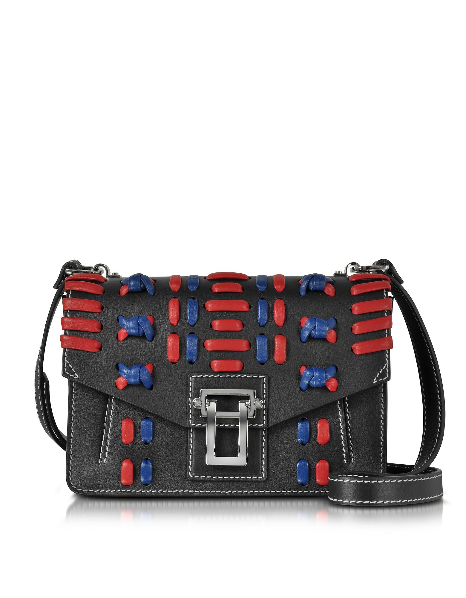 Proenza Schouler Handbags, Black Soft Leather Hava Shoulder Bag
