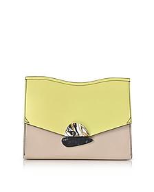 Smooth Colorblock Leather Medium Curl Clutch - Proenza Schouler