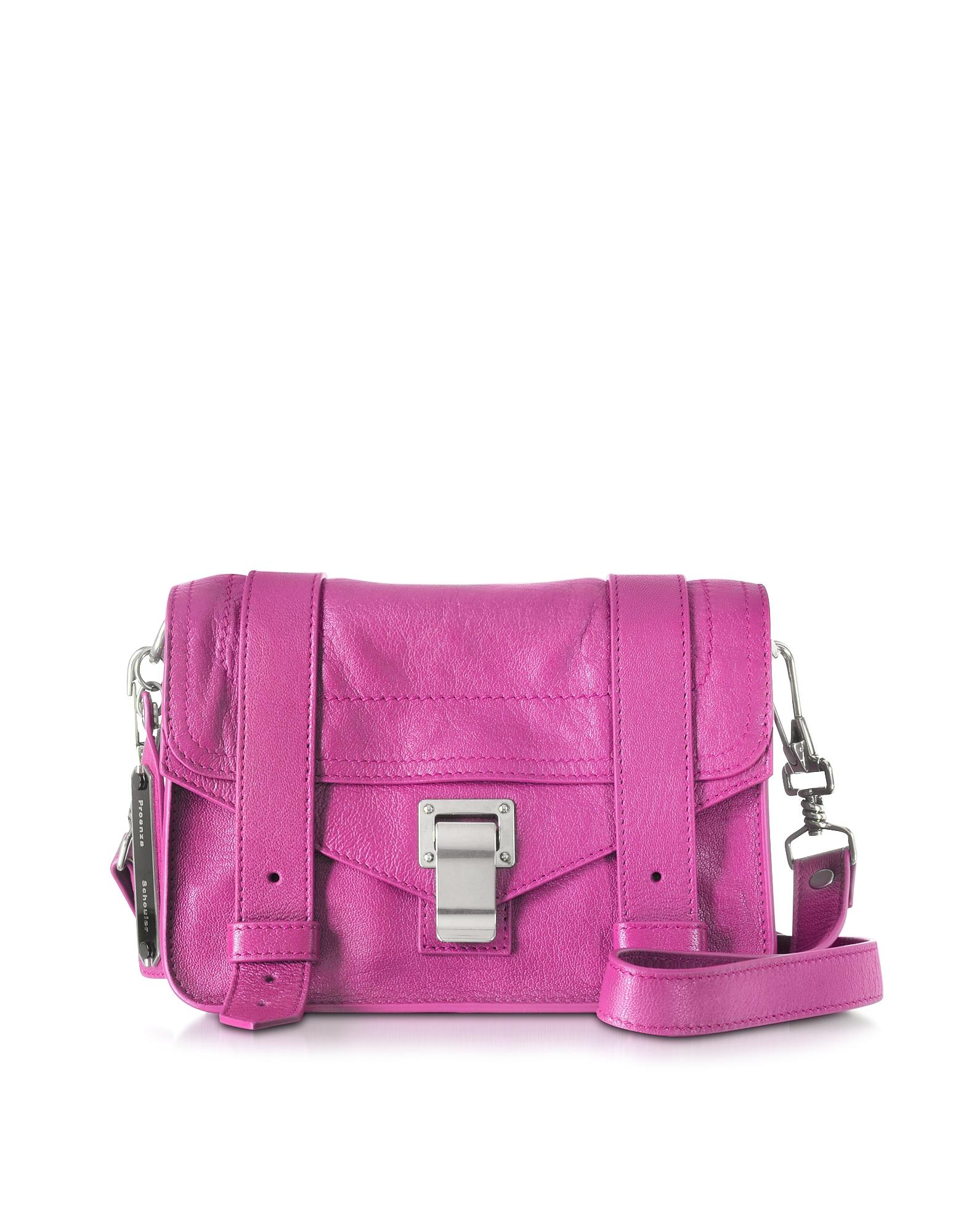 Proenza Schouler Handbags, Berry PS1 Mini Lux Leather Crossbody