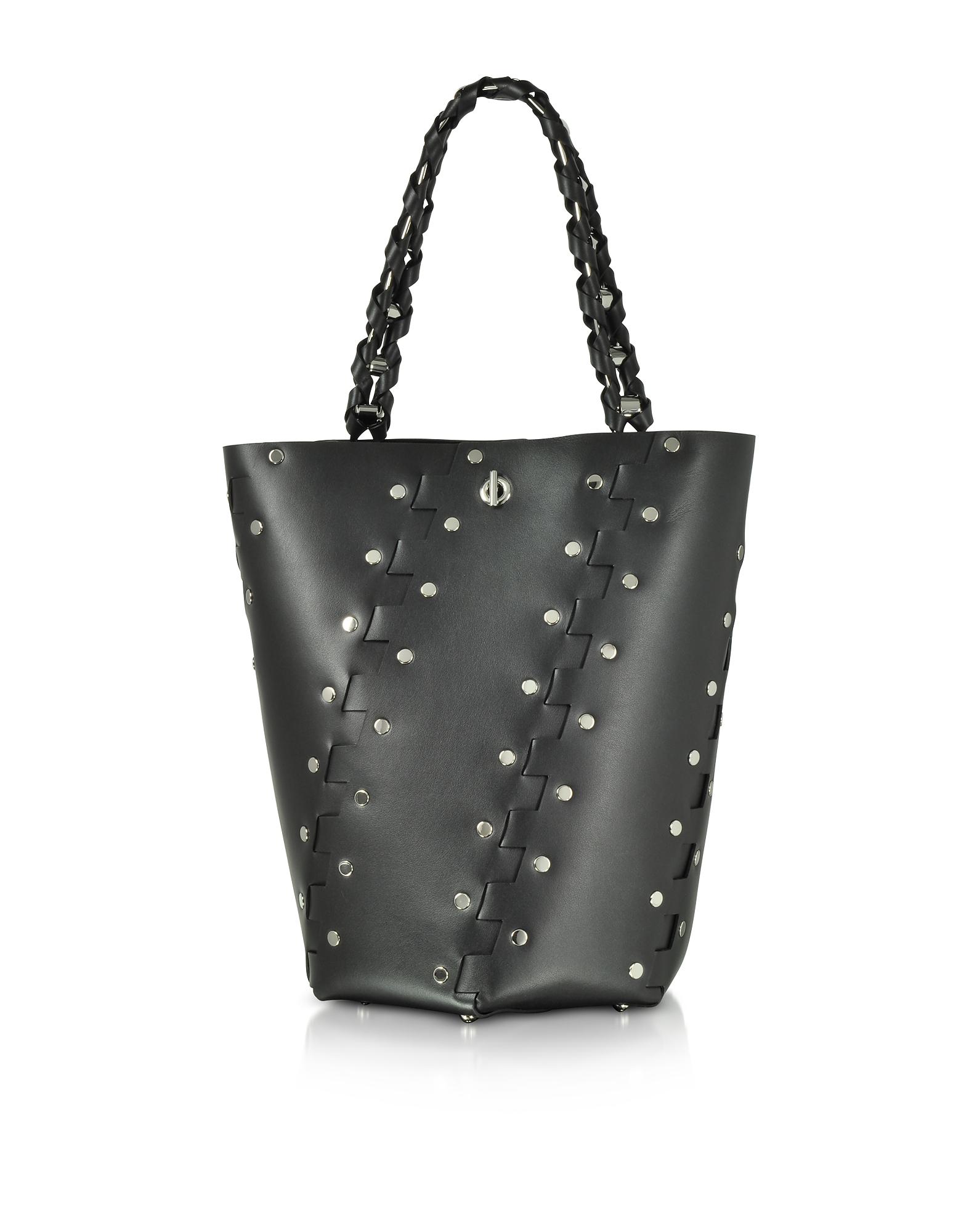 Proenza Schouler Handbags, Studded Hinges Medium Hex Bucket Bag