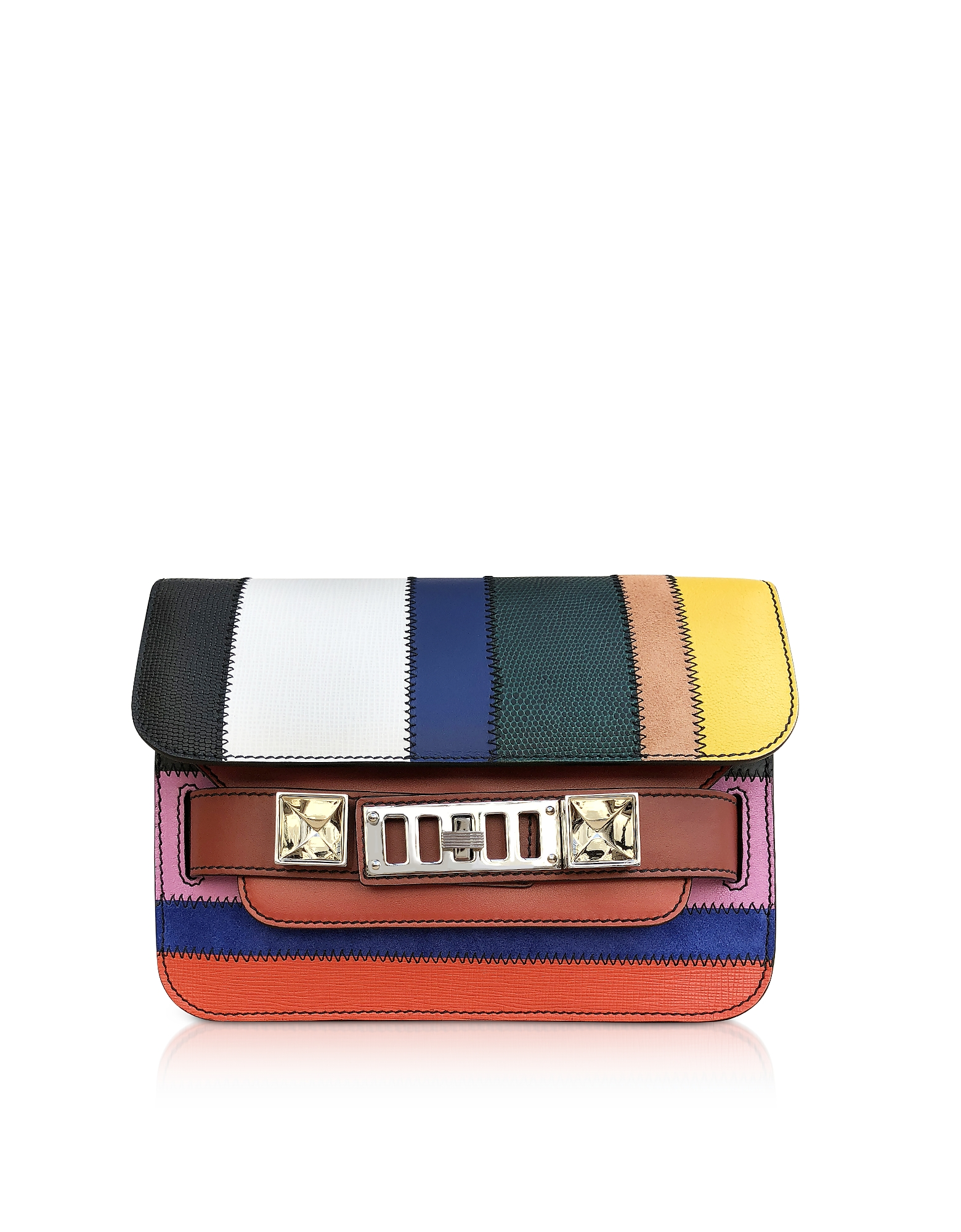 Proenza Schouler Handbags, Ps11 Mini Classic-ColorfuL Patchwork Shoulder Bag