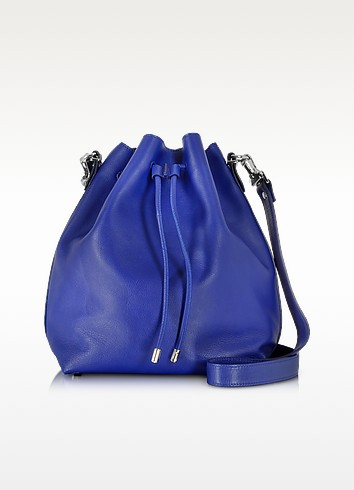 Ultramarine Leather Large Bucket Bag - Proenza Schouler