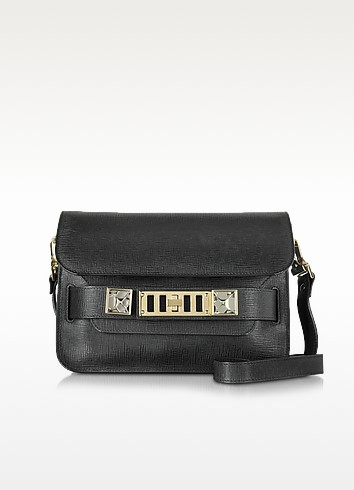 PS11 Mini Classic Black Linosa Leather Shoulder Bag - Proenza Schouler