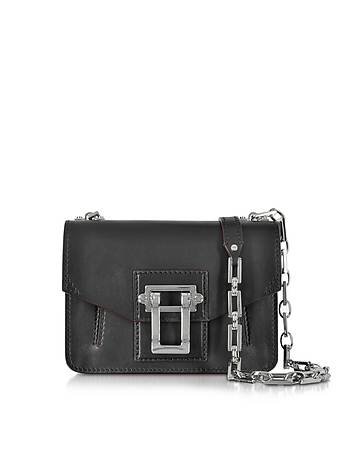 Hava Black Leather Crossbody