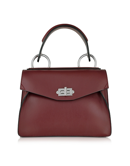 Foto Proenza Schouler Small Hava Bauletto in Pelle Midnight Plum Borse donna