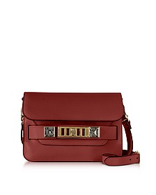 PS11 Mini Classic Red Plum New Linosa Leather Shoulder Bag - Proenza Schouler