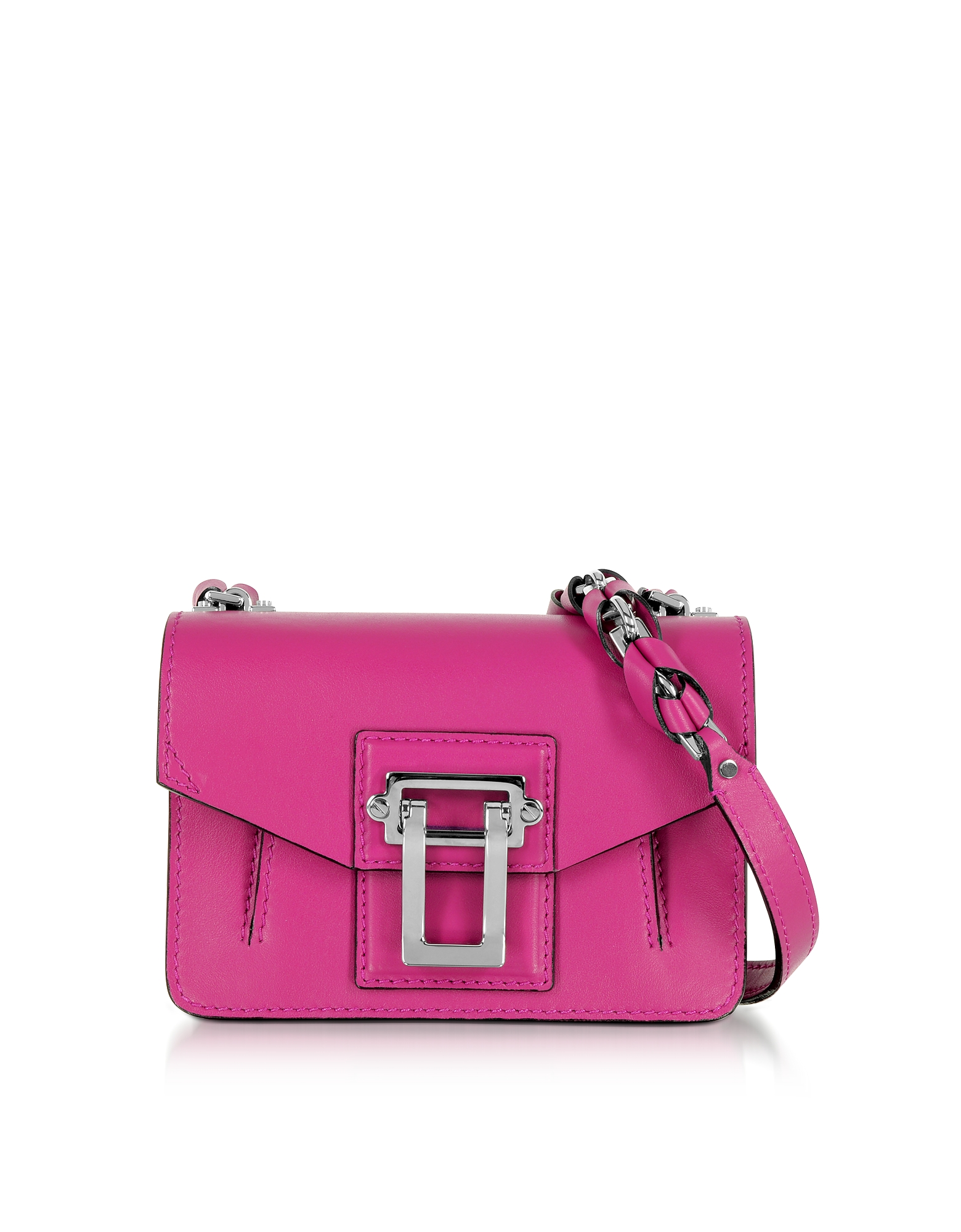 Proenza Schouler Handbags, Hava Chain Peony Smooth Leather Crossbody Bag w/Whipstitch
