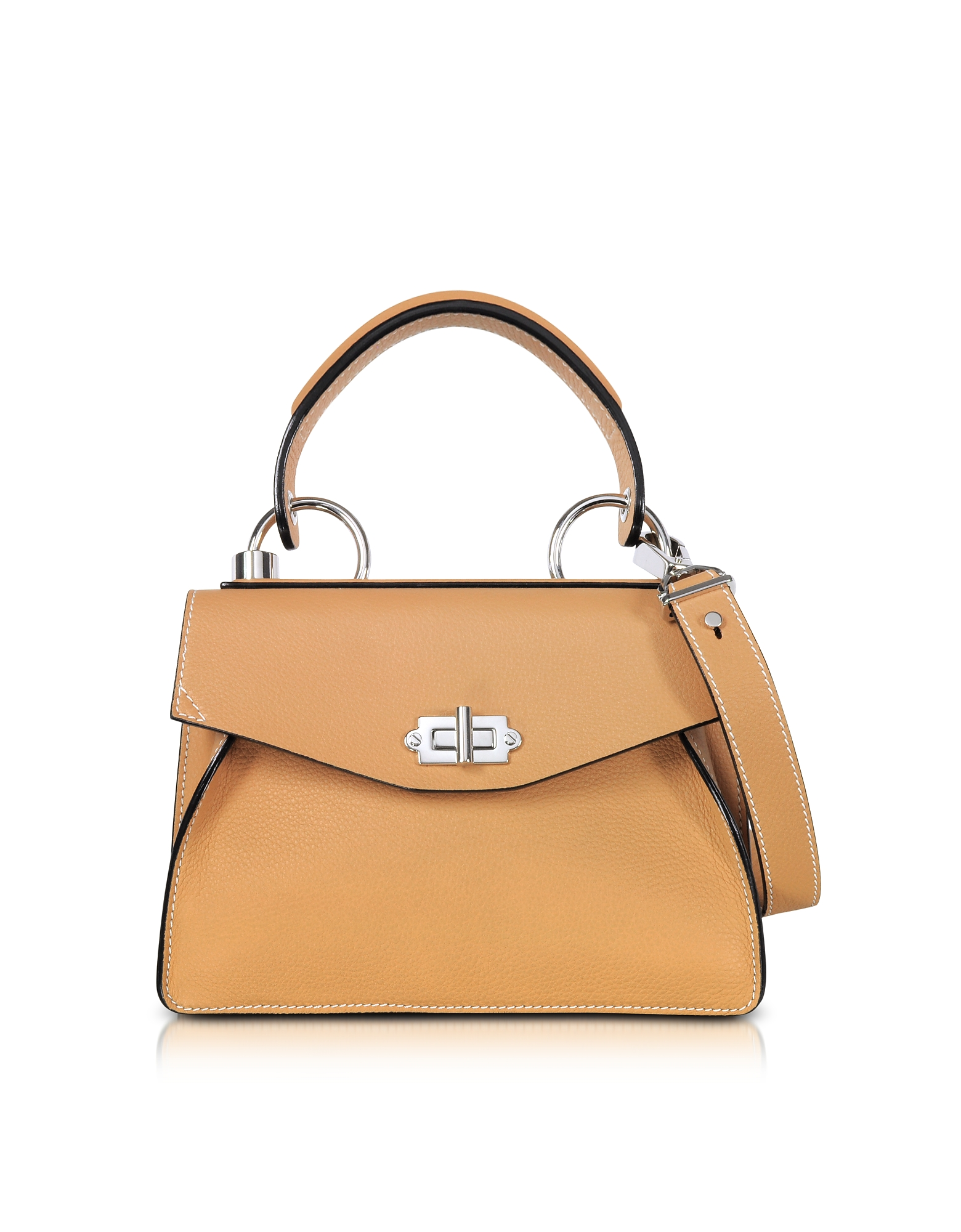 Proenza Schouler Handbags, Wheat Lindos Leather Small Hava Top Handle