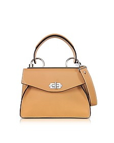 Wheat Lindos Leather Small Hava Top Handle - Proenza Schouler