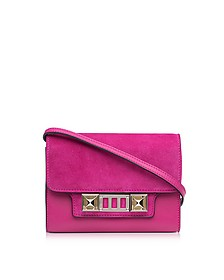PS11 Peony Leather and Suede Wallet w/Shoulder Strap - Proenza Schouler