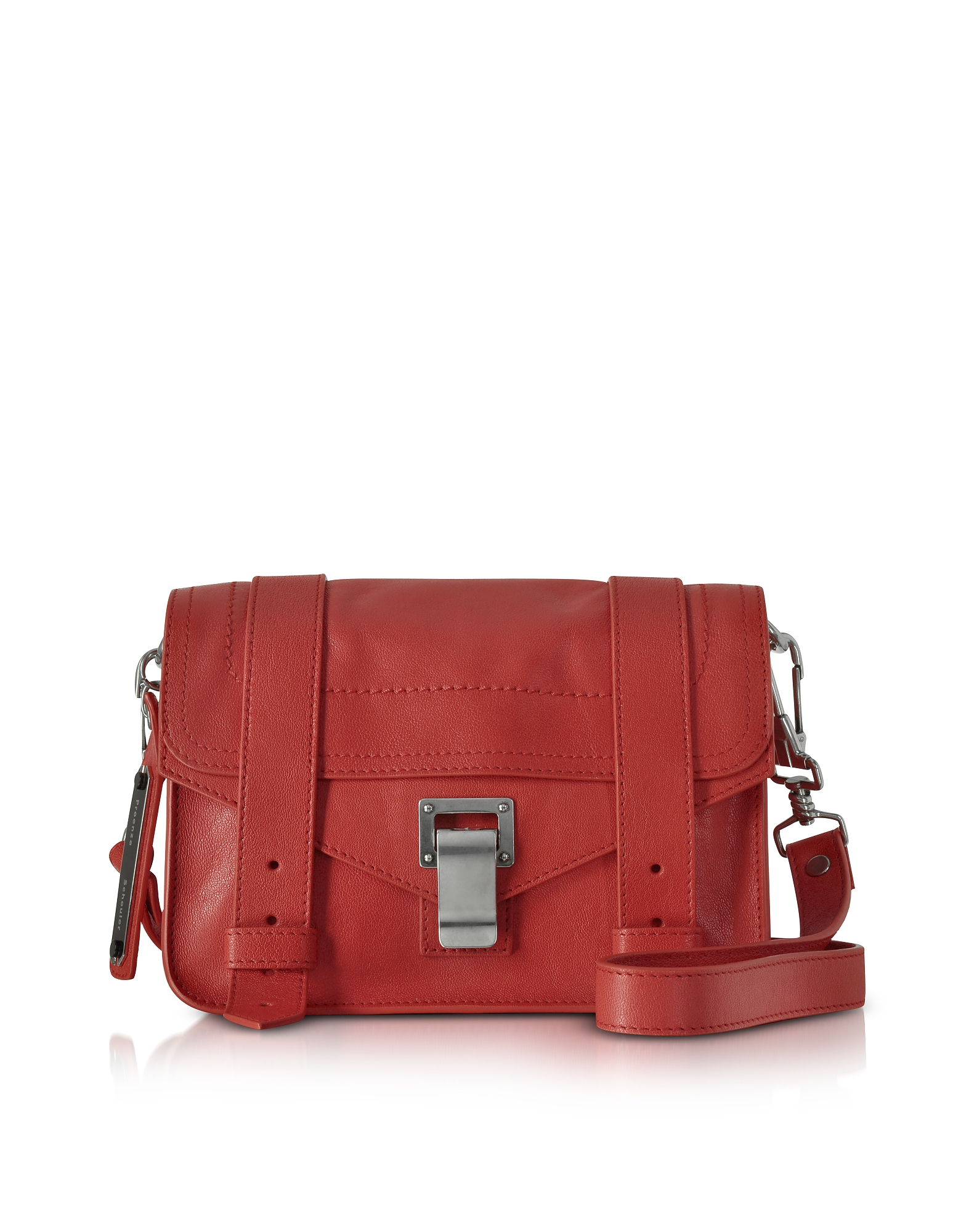 Dark Ruby PS1 Mini Lux Leather Crossbody