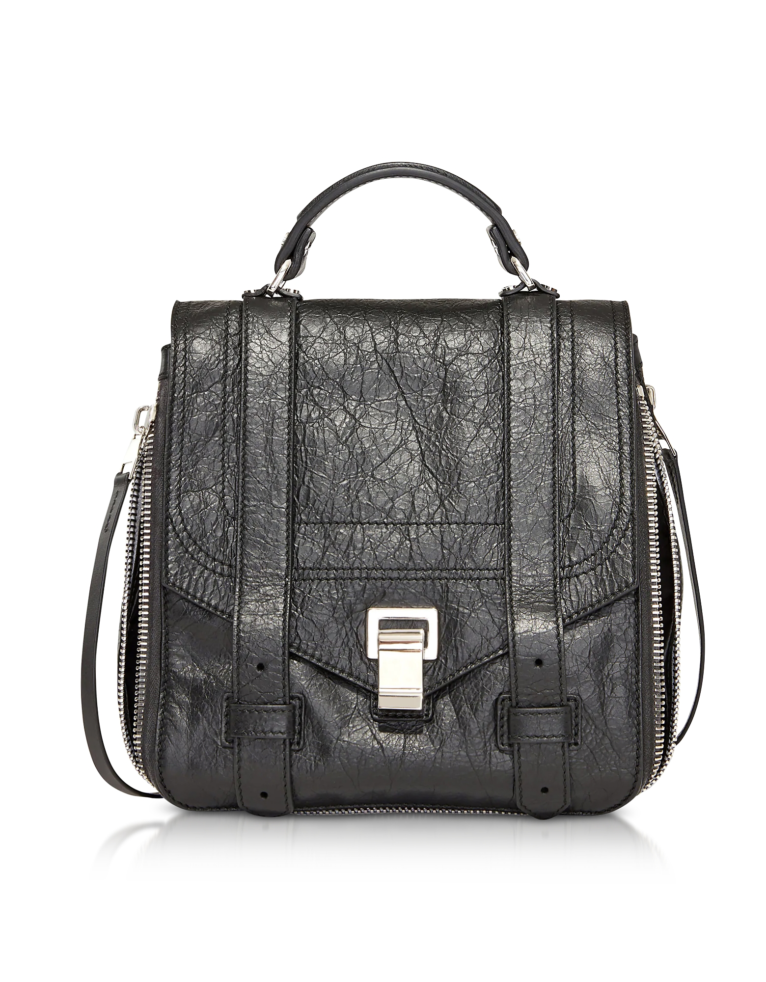 Proenza Schouler Handbags, PS1+ Zip Black Leather Backpack