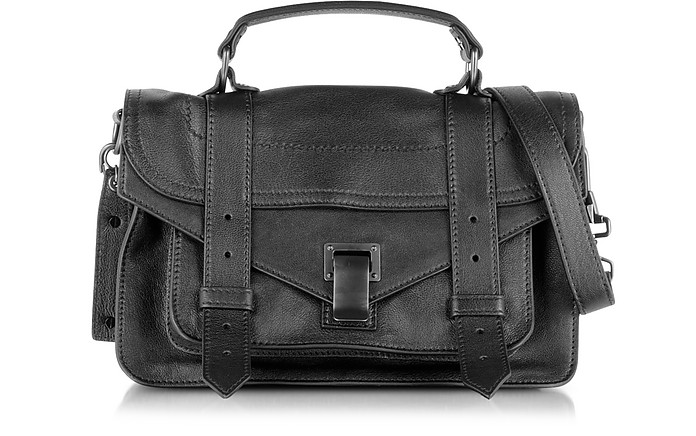 PS1 Tiny Black Lux Leather Satchel Bag - Proenza Schouler