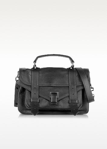 PS1 Tiny Black Lux Leather Satchel Bag - Proenza Schouler