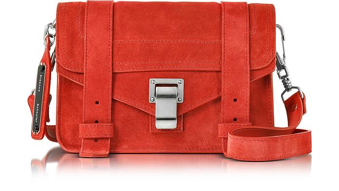 PS1 Mini True Red Suede Crossbody  - Proenza Schouler