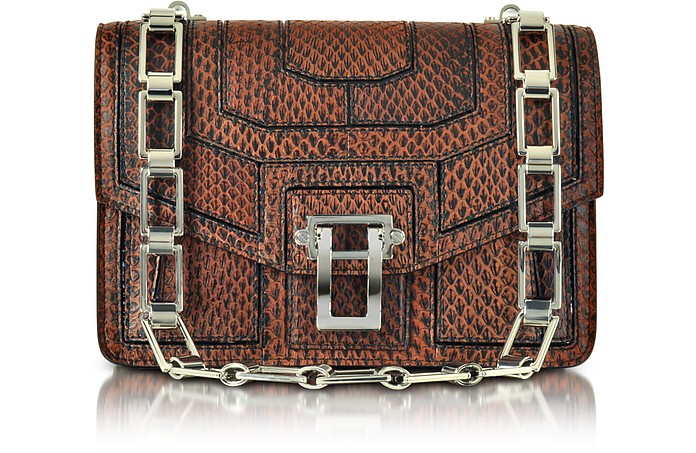 Hava Black and Mahogany Elaphe Patchwork Chain Handbag - Proenza Schouler