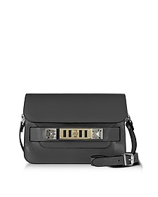 PS11 Mini Classic Asphalt Gray New Linosa Leather Shoulder Bag - Proenza Schouler