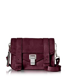 PS1 Mini Dark Grape Suede Crossbody Bag - Proenza Schouler