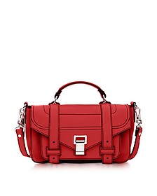 PS1 + Tiny Cardinal Leather Flap Handbag - Proenza Schouler