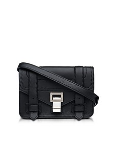 PS1 + Black Grainy Leather Mini Crossbody Bag - Proenza Schouler