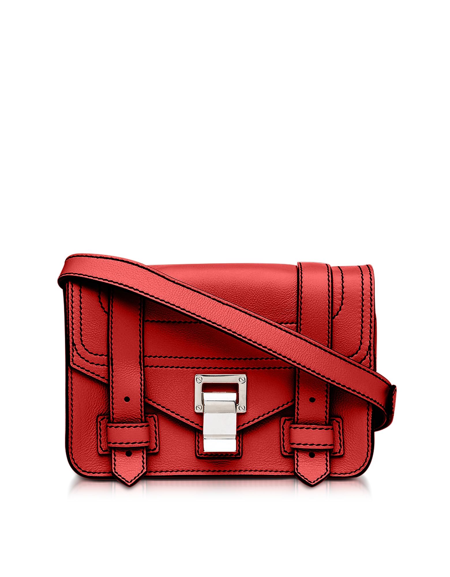 PS1+ Cardinal Grainy Leather Mini Crossbody Bag
