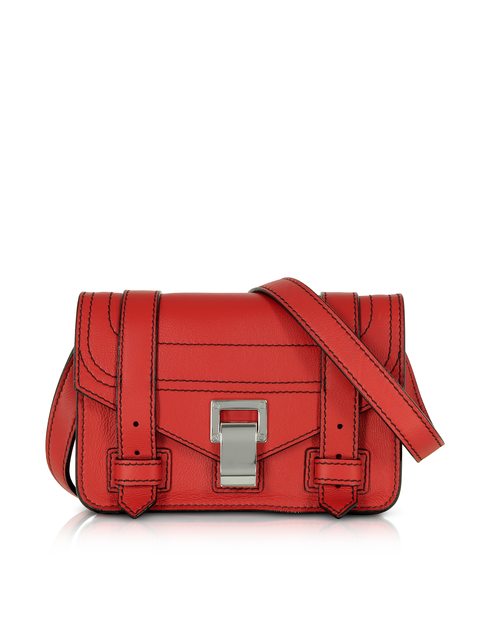 Proenza Schouler Handbags, PS1+ Cardinal Grainy Leather Mini Crossbody Bag